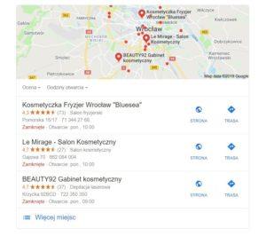 Pozycjonowanie na mapach Google
