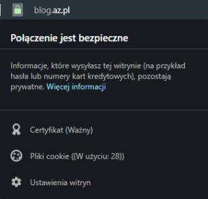 Witryna zabezpieczona certyfikatem SSL