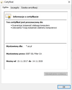 Certyfikat SSL na blogu AZ.pl