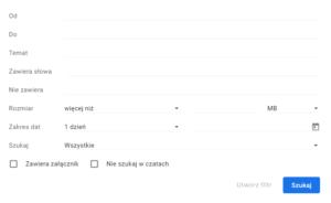 Gmail zaawansowane